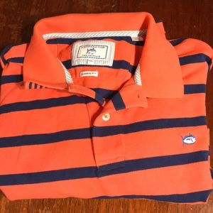 Southern Tide Skipjack Stripes Navy Orange XXL